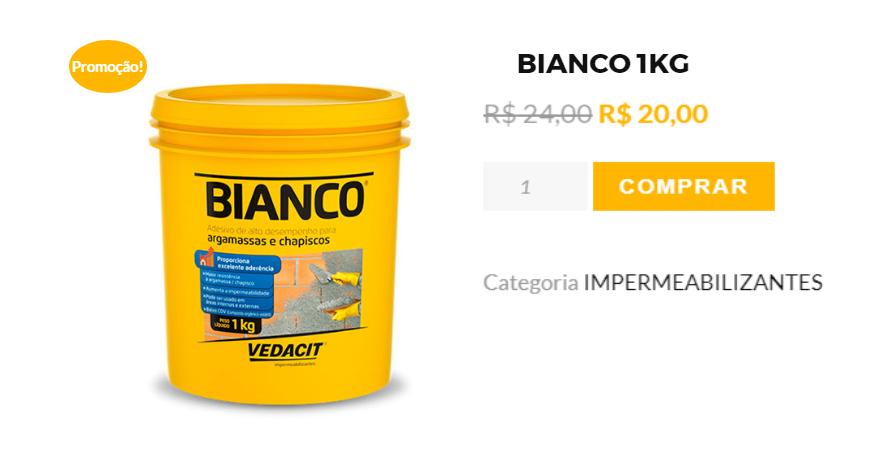 Indústria Artesanato Manufatura E Maquinofatura ~ BIANCO 1KG depositodapracaparaventi